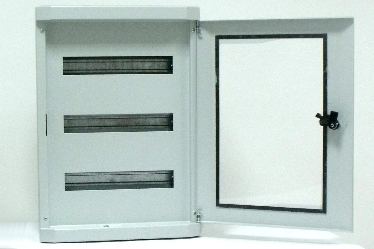 coffrets lectriques modulaires coffret lectrique modulaire porte vitr e 3 rang es de 48. Black Bedroom Furniture Sets. Home Design Ideas